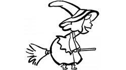 Desenhos de Bruxas para pintar com as crianças