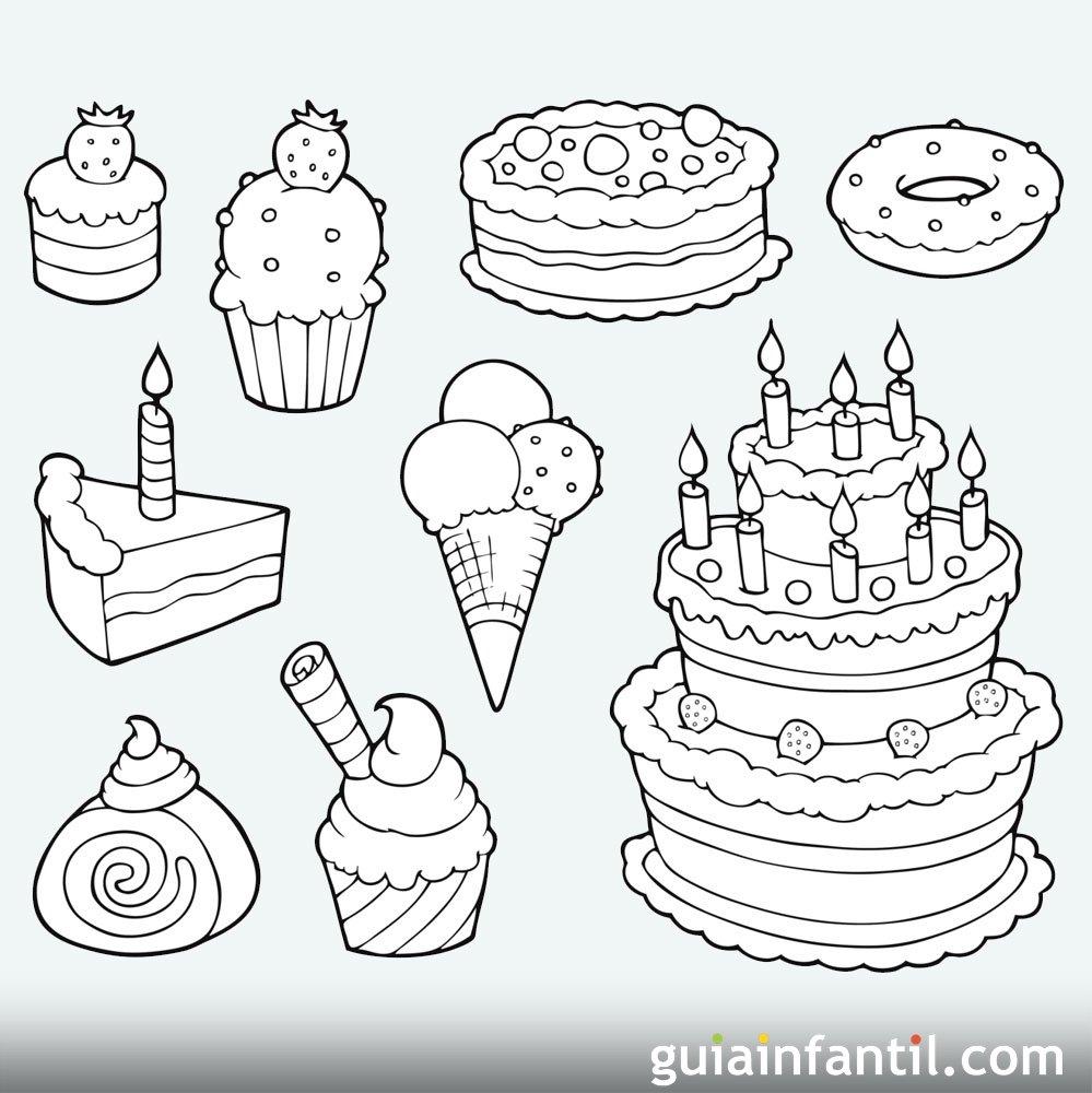 Desenhos de Aniversário de Criança para colorir e pintar