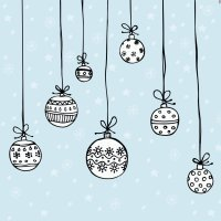 Desenhos de bolas de Natal para colorir