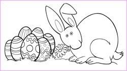 Desenhos de coelhos de Páscoa para pintar