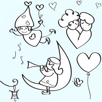 Desenhos de amor para pintar com as crianças