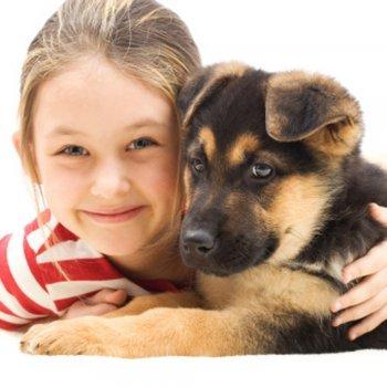 Animais de estimação. Melhores amigos das crianças