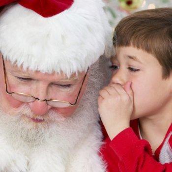 As marcas de Papai Noel nas crianças