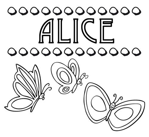 Desenho Do Nome Alice Para Pintar Imagens De Nomes