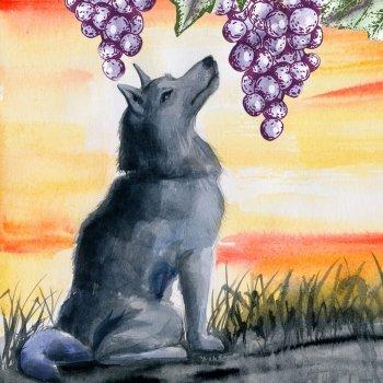 Fábulas para crianças. A raposa e as uvas
