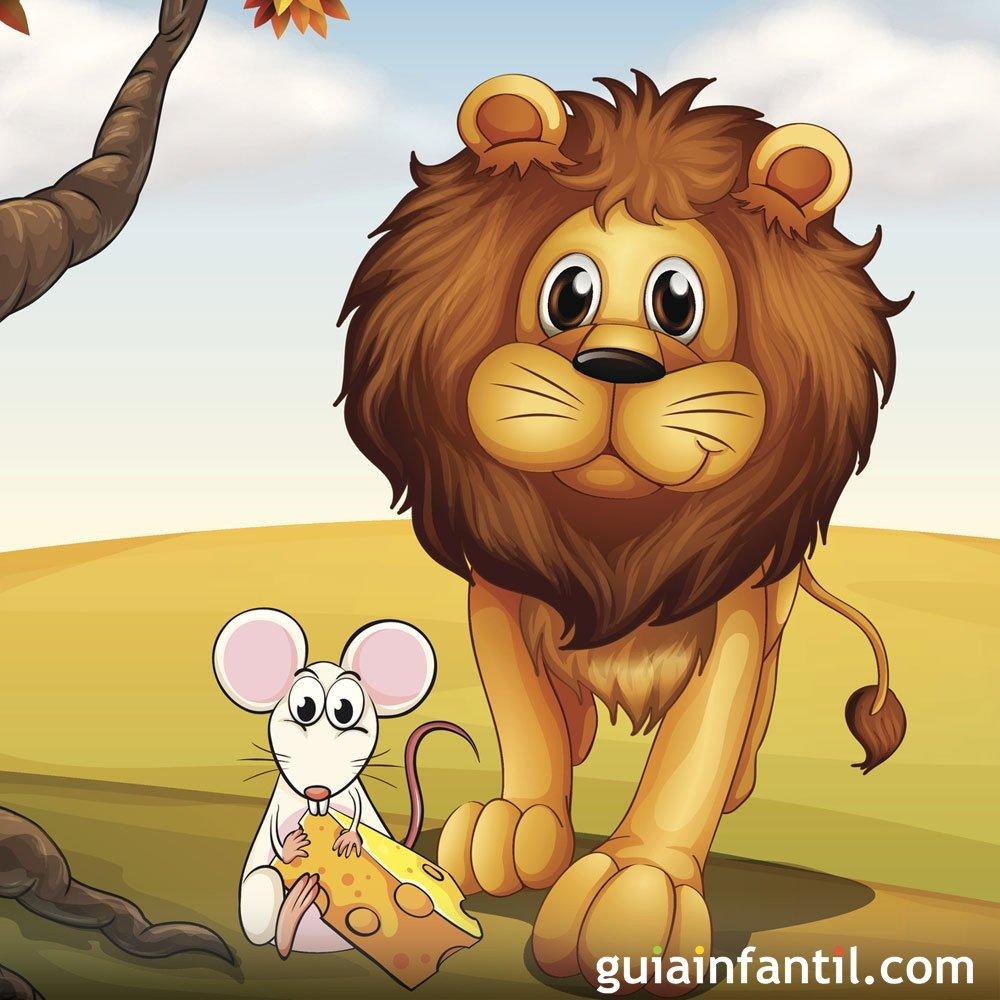 Fábulas para crianças. O leão e o rato