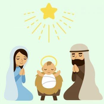 Nascimento do menino Jesus. Conto de Natal