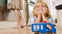 Ambiente familiar adequado para uma criança hiperativa