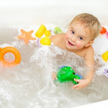 Segurança das crianças no banho