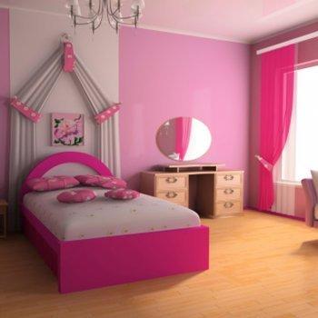 As cores no quarto dos bebês