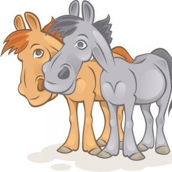 As mulas e os ladrões. Fábula para crianças de Esopo