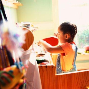 A organização dos brinquedos das crianças