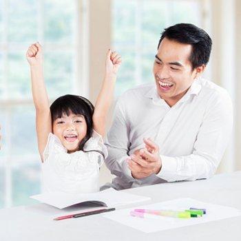 Os quadros de incentivos na educação das crianças