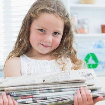 Ensinar as crianças a reciclar os diferentes materiais