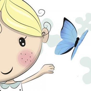 A mariposa azul. Lenda oriental para crianças