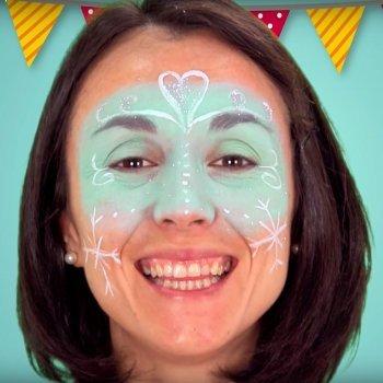 Maquiagem da princesa de Frozen para as crianças