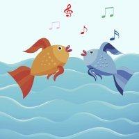 Peixe vivo. Canção para crianças