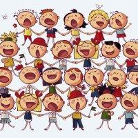 Criança feliz. Uma música que as crianças adoram