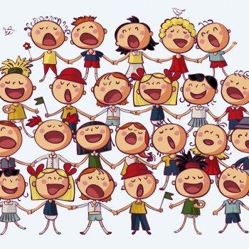 Criança feliz. Letra de canção para crianças