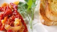 Receita de Esgarraet. Salada de pimentão e bacalhau