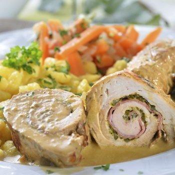 Rolinhos de frango com verduras. Receita saudável para as crianças