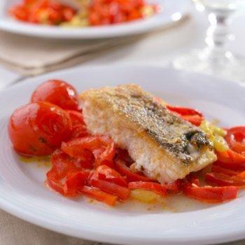 Receita de bacalhau com pimentão vermelho