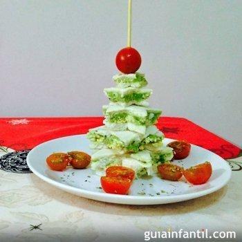 Árvore de Natal com pão de forma. Receita natalina