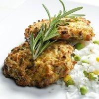 Hambúrguer de sardinhas. Receita para crianças